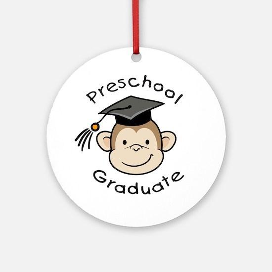 Monkey Preschool Graduate Ornament (Round)