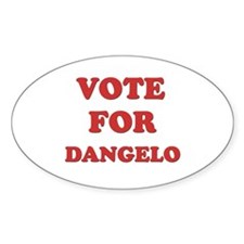 Vote for DANGELO Oval Decal