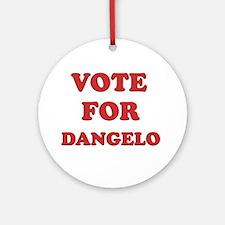 Vote for DANGELO Ornament (Round)