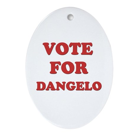 Vote for DANGELO Oval Ornament