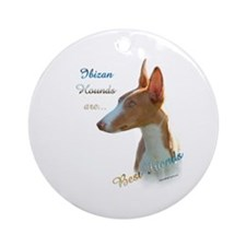 Ibizan Best Friend 1 Ornament (Round)