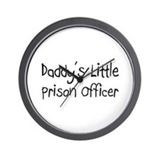 Daddy's Little Prison Officer Wall Clock