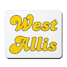 Retro West Allis (Gold) Mousepad