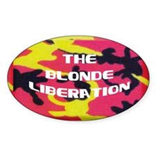 Blonde Liberation Oval Decal
