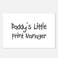 Daddy's Little Print Manager Postcards (Package of