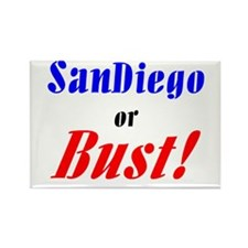 San Diego or Bust! Rectangle Magnet