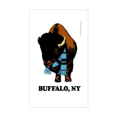 Buffalo Scarf Rectangle Sticker