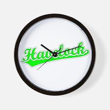 Retro Havelock (Green) Wall Clock