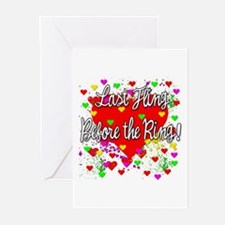 Last Fling Before the Ring Greeting Cards (Pk of 1