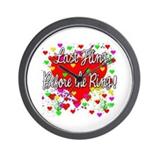 Last Fling Before the Ring Wall Clock