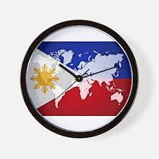 Filipinos Abroad World Wall Clock