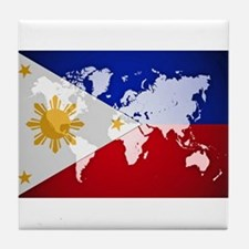 Filipinos Abroad World Tile Coaster