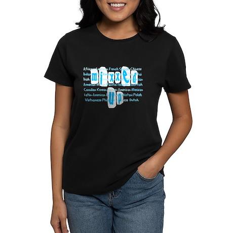 mixxed up (blue/black) Women's Dark T-Shirt