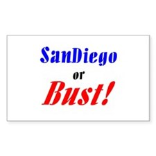 San Diego or Bust! Rectangle Decal