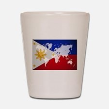 Filipinos Abroad World Shot Glass