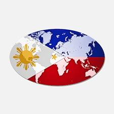 Filipinos Abroad World Wall Decal