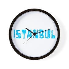 Istanbul Faded (Blue) Wall Clock