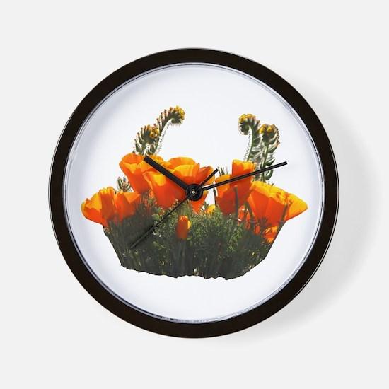 Helaine's Poppies 2 Wall Clock