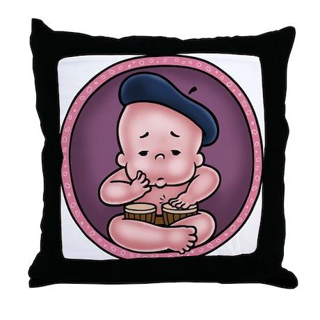 Womb-Beat Throw Pillow