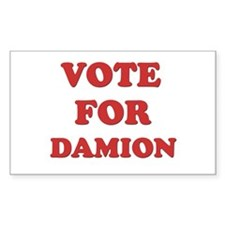 Vote for DAMION Rectangle Decal