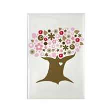 Go Green in Pink Rectangle Magnet