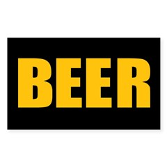 BEER Rectangle Decal