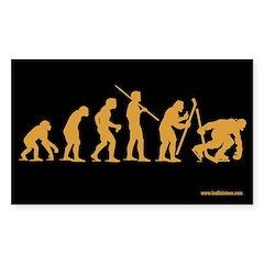 Hockey Goon Evolution Rectangle Decal