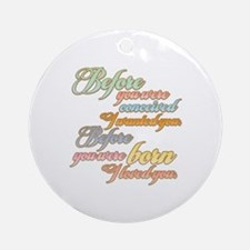 Before you were Born T-shirts Gifts Ornament (Roun