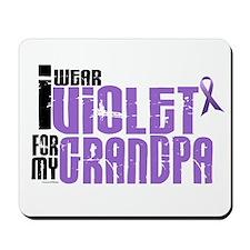 I Wear Violet For My Grandpa 6 Mousepad