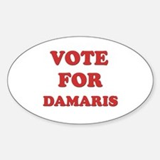 Vote for DAMARIS Oval Decal