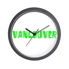 Vancouver Faded (Green) Wall Clock