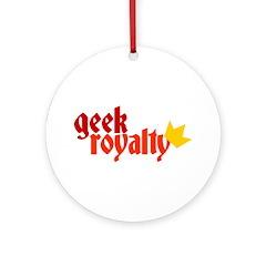 Geek Royalty Ornament (Round)