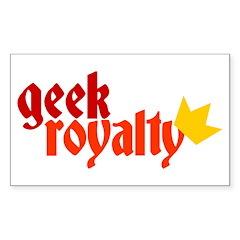 Geek Royalty Rectangle Decal