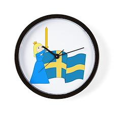 Unique Sverige Wall Clock
