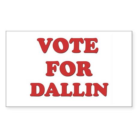 Vote for DALLIN Rectangle Sticker