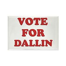 Vote for DALLIN Rectangle Magnet