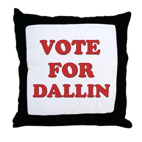 Vote for DALLIN Throw Pillow