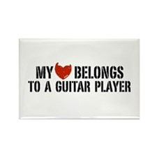 My Heart Belongs to a Guitar Player Rectangle Magn