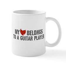 My Heart Belongs to a Guitar Player Mug