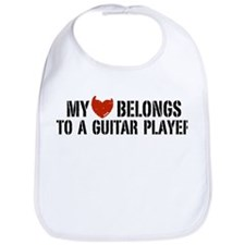 My Heart Belongs to a Guitar Player Bib