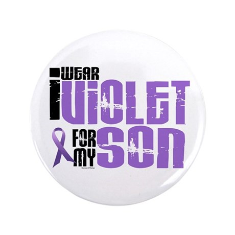"""I Wear Violet For My Son 6 3.5"""" Button"""