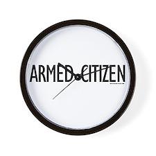 Armed Citizen Wall Clock