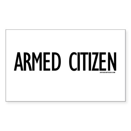 Armed Citizen Rectangle Sticker 50 pk)
