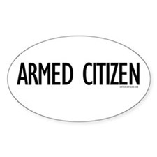 Armed Citizen Oval Decal