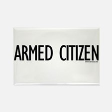 Armed Citizen Rectangle Magnet