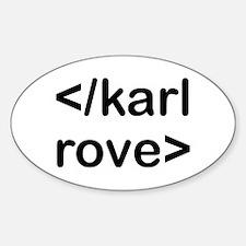 </karl rove> end karl rove Oval Decal