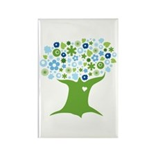 Go Green in Blue Rectangle Magnet