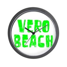 Vero Beach Faded (Green) Wall Clock