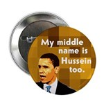 My Middle Name is Hussein Too Button