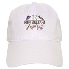 New Orleans Bead Design Baseball Baseball Cap